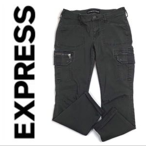 Express Gray Stella Cargo Pants